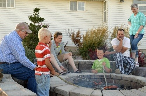 Family fun around the fire pit!