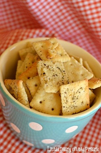 Parmesan and Ranch crackers!! - Little Dairy on the Prairie
