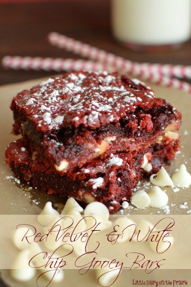Red Velvet Gooey Bars! -Little Dairy on the Prairie