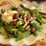 Spinach & Grape Salad with Cinnamon Yogurt Dressing