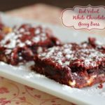 Red Velvet and White Chocolate Chip Gooey Bars