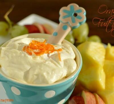 Zesty orange fruit dip! Instructions for making it healthier too!