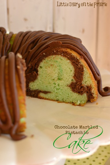 Chocolate Marbled Pistachio Cake! Little Dairy on the Prairie