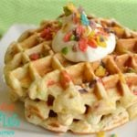 Fruity Pebbles Waffles! The kid in everyone will go crazy for these! - Little Dairy on the Prairie