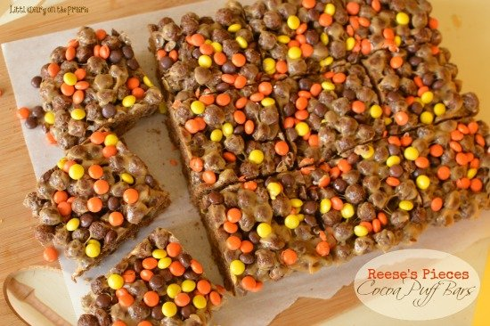 reeses pieces cocoa puff bars little dairy on the prairie