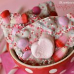 Strawberries & Cream Valentine's Day Bark