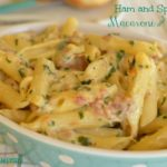 Ham and Spinach Macaroni and Cheese
