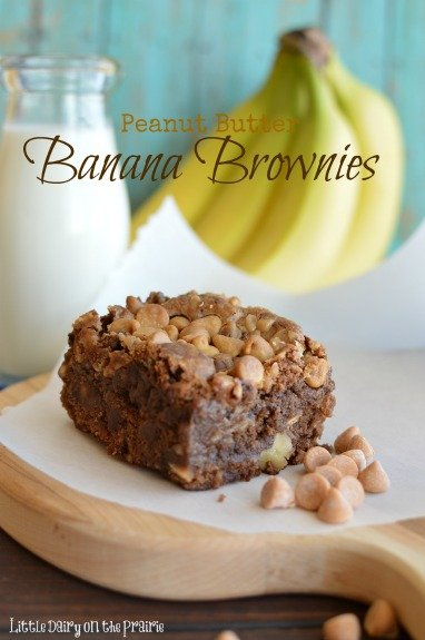 Ultra moist banana brownies! - Little Dairy on the Prairie