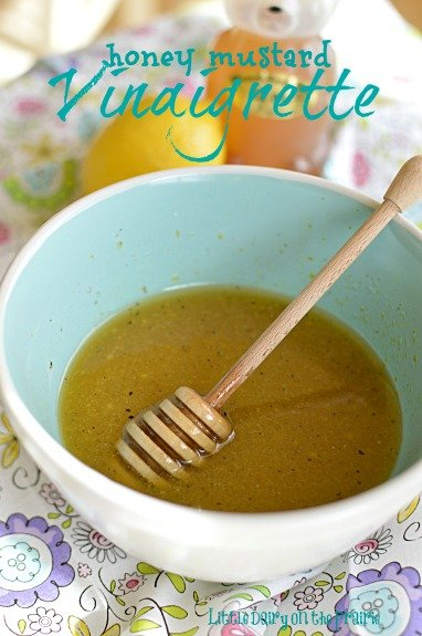 Amazing combination of flavors in this Honey Mustard Vinaigrette!