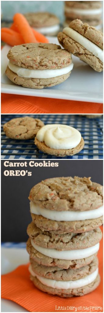 Carrot Cake Oreo Cookies are everything you love about carrot cake and cream cheese icing in a fantastic little cookie!