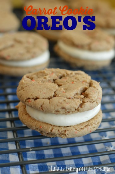 Carrot Cake Sandwich Cookie made with a cake mix.