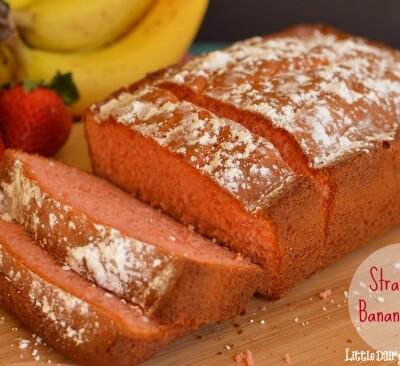Extra moist strawberry banana bread!