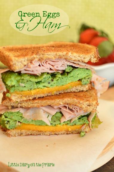 Green Eggs and Ham Sandwich!  Little Dairy on the Prairie