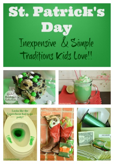 Simple St. Patrick's Day traditions! Very frugal! Little Dairy on the Prairie