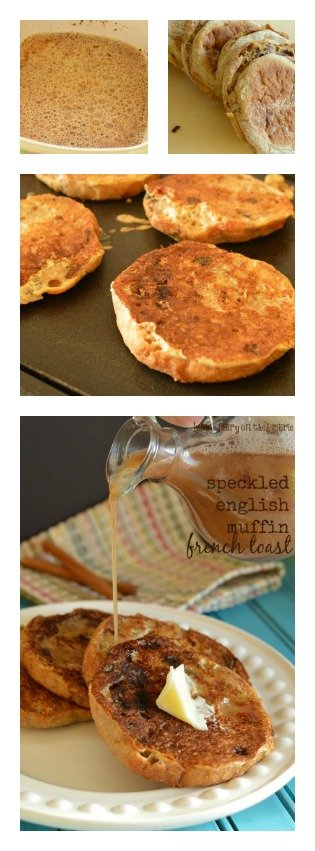 Speckled English Muffin French Toast! Sweet and airy french toast!  Little Dairy on the Prairie