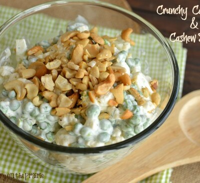 Cauliflower and Cashew Salad is a favorite spring time salad!  Little Dairy on the Prairie