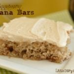 Cinnamon Banana Bars with Cinnamon Cream Cheese Frosting