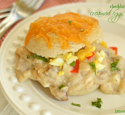 If you like biscuits and gravy you are going to love this fresh twist on them!  Little Dairy on the Prairie