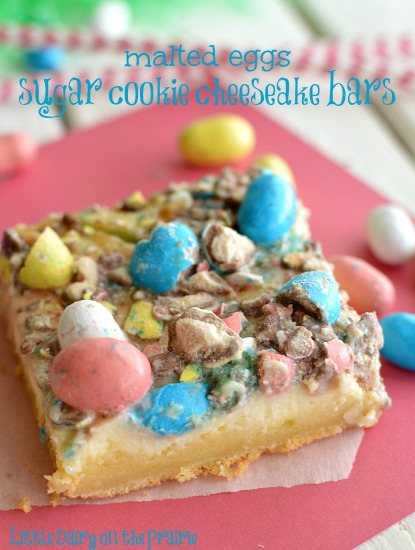 Malted Eggs Sugar Cookie Cheesecake Bars! Little Dairy on the Prairie
