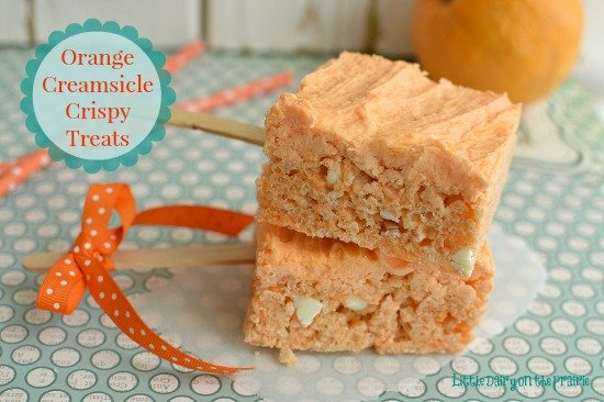 Orange Creamsicles are a favorite summer time treat. Transportable even on really hot days!  Little Dairy on the Prairie
