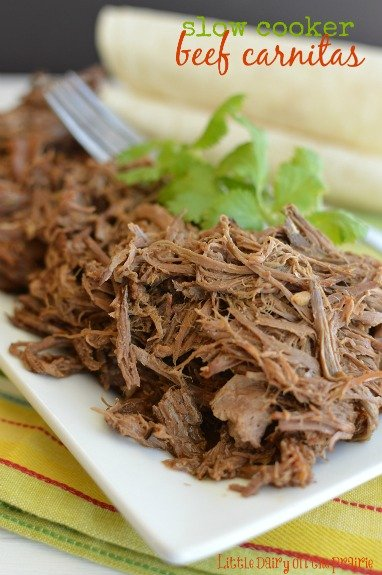 Slow Cooker Beef Carnitas!  Little Dairy on the Prairie