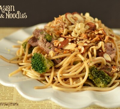 Asian Beef and Noodles makes the perfect quick summer meal. We like to use our leftover steak!  Little Dairy on the Prairie