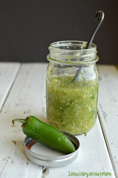 Fresh Tomatillo Lime Salsa!!