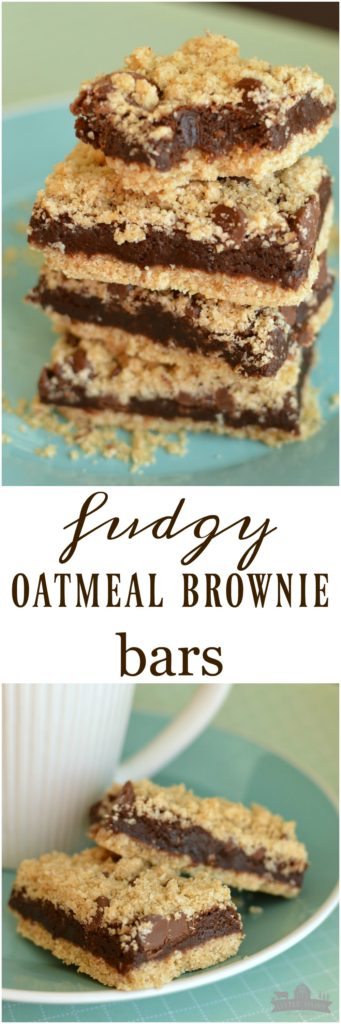 Need a scrumptious after school snack or lunch box treat Fudgy Oatmeal Bars are always a hit at my house!