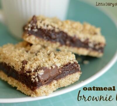 Oatmeal Brownie Bars!  Little Dairy on the Prairie
