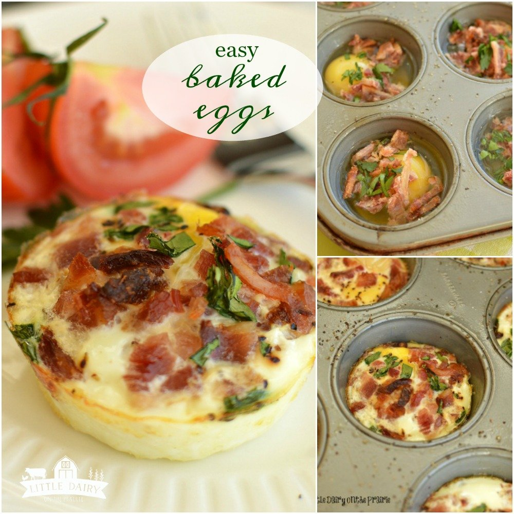 Hectic mornings Try my Easiest Ever Baked Egg Cups! They're a snap to throw together and can be customized so you get exactly what you want!