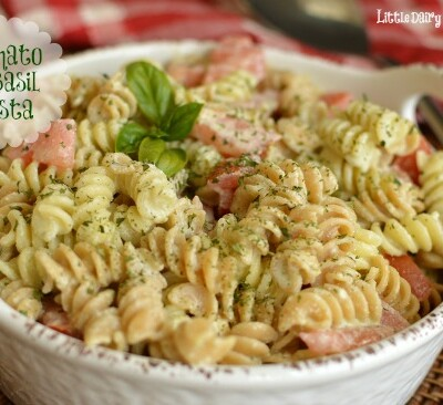 Such and easy side dish! I love it most in the summer when tomatoes and basil are their best!  Little Dairy on the Prairie