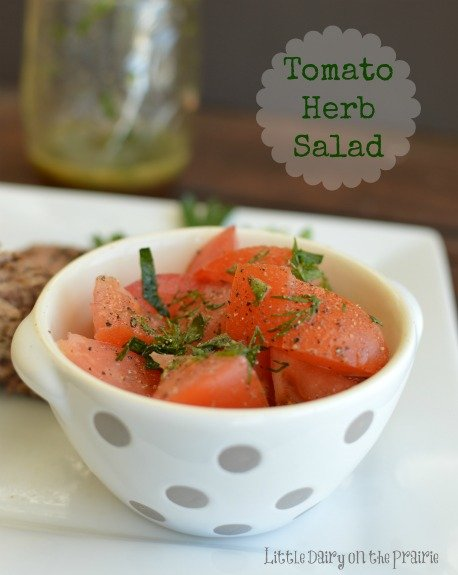Tomato Herb Salad! Refreshing!  Little Dairy on the Prairie