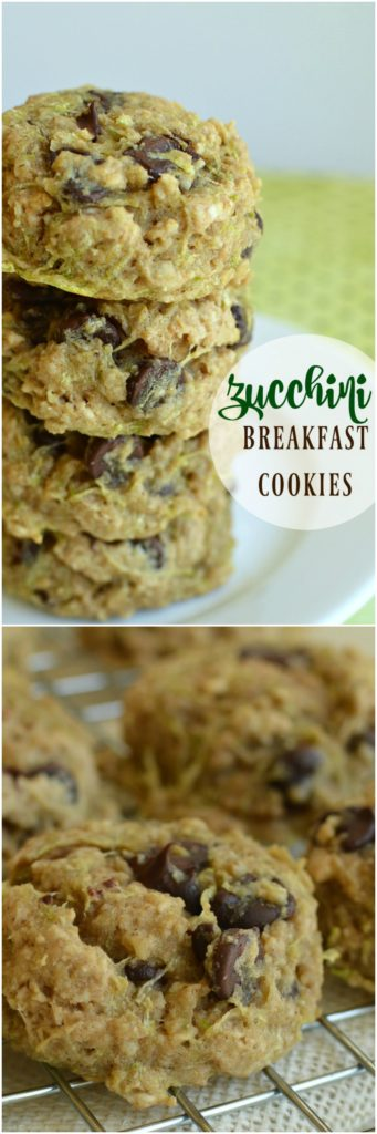 A melt in your mouth cookie for breakfast that's just the right amount of sweet! A favorite way to use up zucchini!