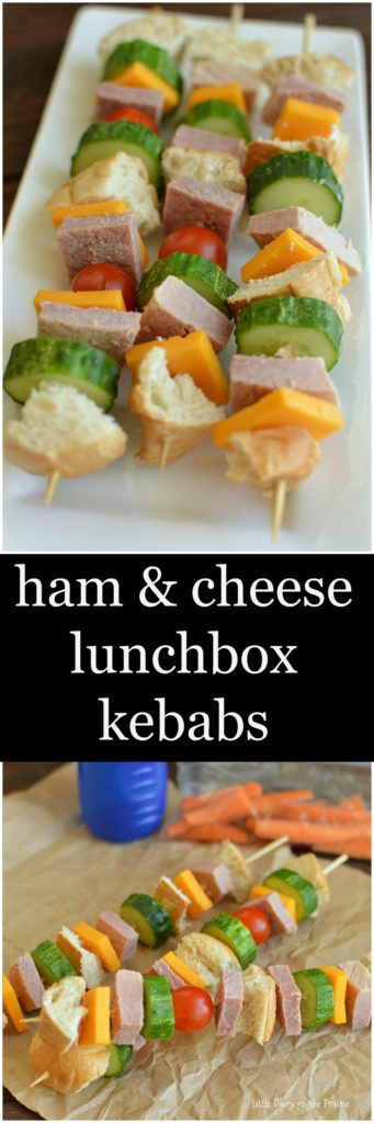 Bored of sandwiches in your lunch Switch it up and try Ham and Cheese Lunchbox Kebabs!