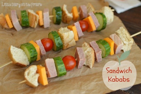 Sandwich kababs are a fun way to switch up a normal sandwich! Little Dairy on the Prairie