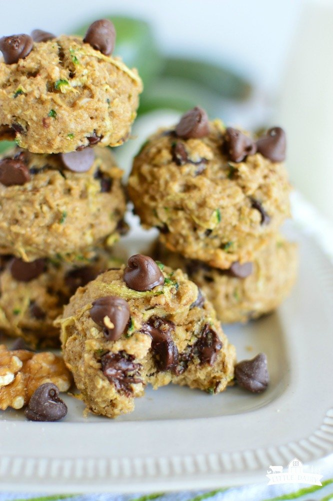 zucchini cookies in a stack