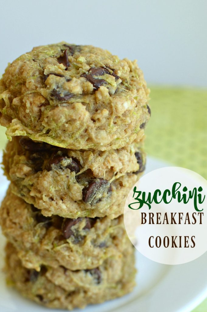 Zucchini Breakfast Cookies are soft and have just the right amount of sweet! One of the best ways to use up all that zucchini!