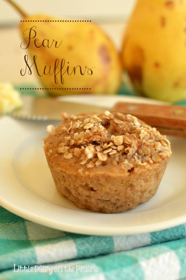 Pear muffins will make your house smell absolutely amazing while it bakes. The are loaded with cinnamon and spices and topped off with a streusel! I Little Dairy on the Prairie