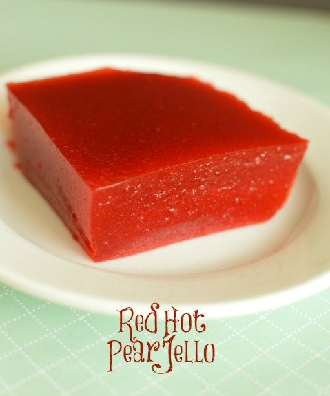 Every kid loves Jell-O. Red Hot Pear Jell-O is one adults will love too!