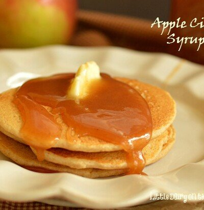 Capture the fall flavors with Apple Cider Syrup. I haven't found anything it's not good on!  Little Dairy on the Prairie