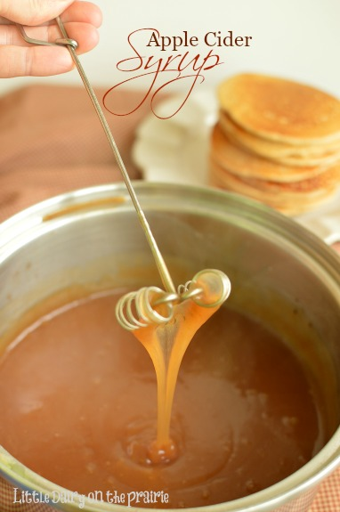 I could be easily persuaded to pour Apple Cider Syrup in a glass and drink it! Little Dairy on the Prairie