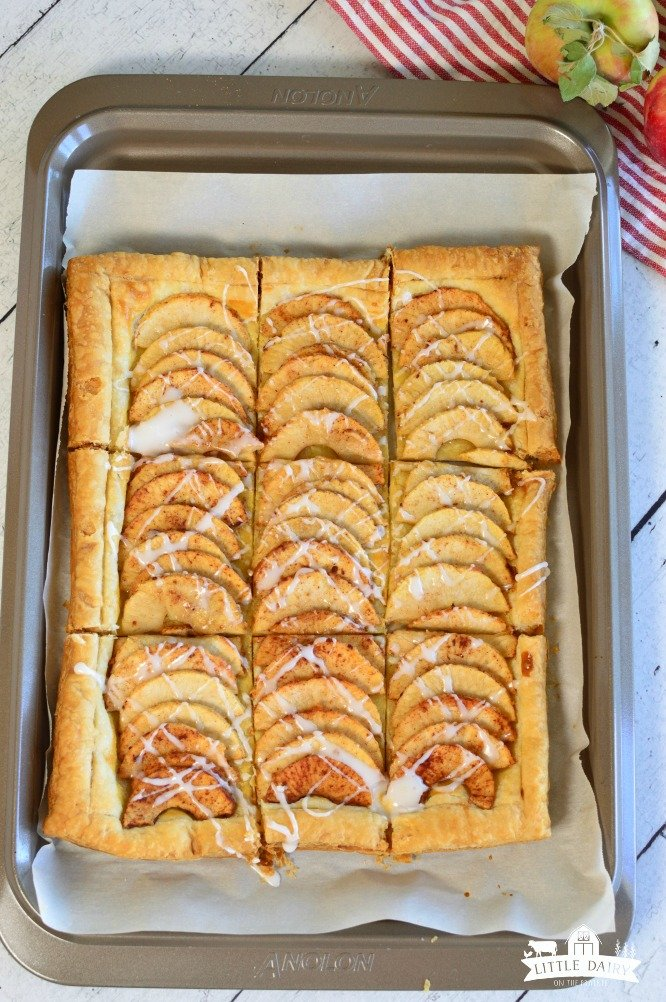 Apple desserts using puff pastry sheets