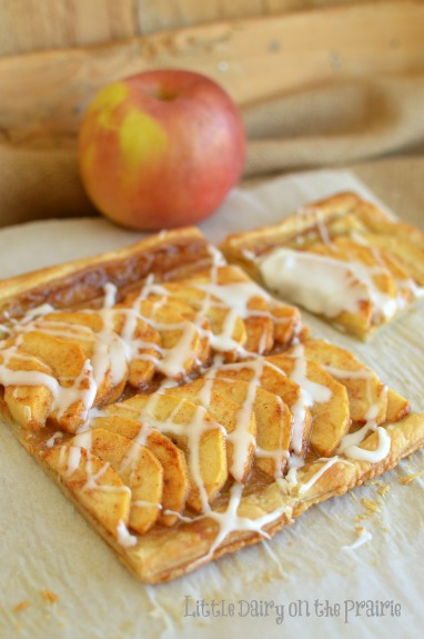 Simple Puff Pastry Apple Tart! Little Dairy on the Prairie