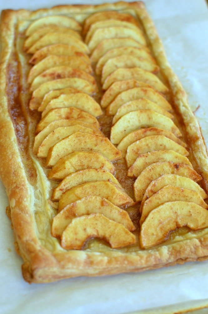 Simple Puff Pastry Apple Tart is easier than apple pie and just as good.