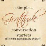 Simple Gratitude Conversation Starters