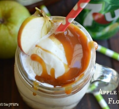 Apple Cider Floats! Salted caramel on top never hurt a thing!  Little Dairy on the Prairie