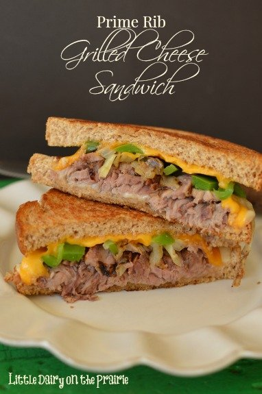 Leftover prime rib A favorite comfort food goes to the next level in this Prime Rib Grilled Cheese Sandwich!  Little Dairy on the Prairie