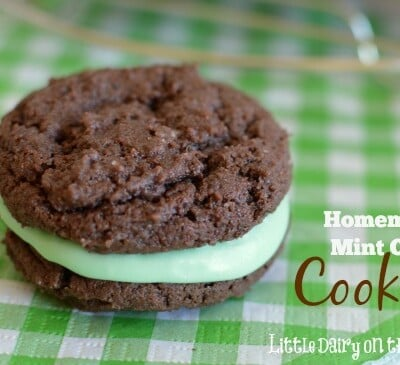Milk's favorite cookie in a mint version! Homemade Mint Oreo's. That's what I'm talking about!  Little Dairy on the Prairie