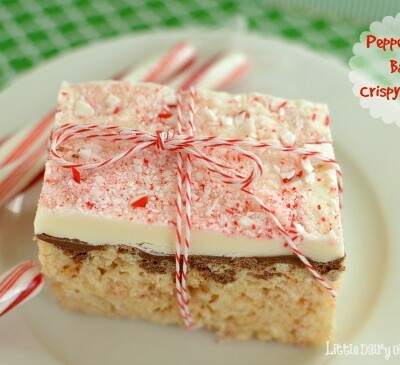 Peppermint Bark Crispy Treats are perfect for me because for some reason my holiday season always gets super busy!  Little Dairy on the Prairie