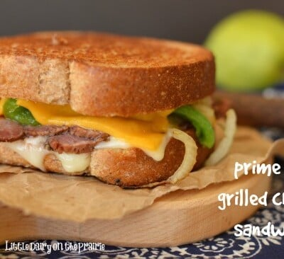 Prime Rib Grilled Cheese Sandwich! This classic comfort food is as good as it gets!  Little Dairy on the Prairie
